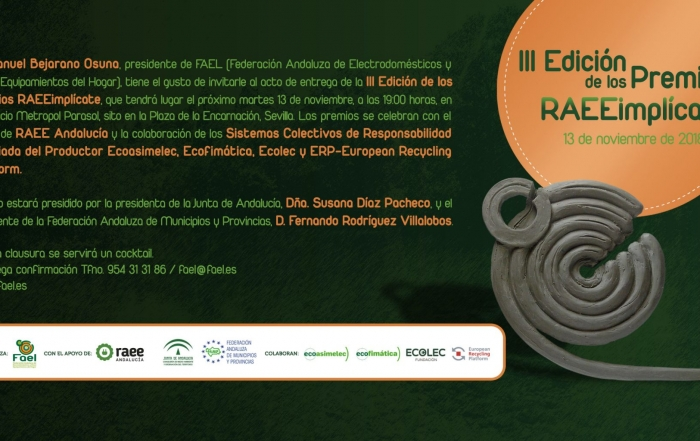Tarjetón III Premios RAEEimplícate