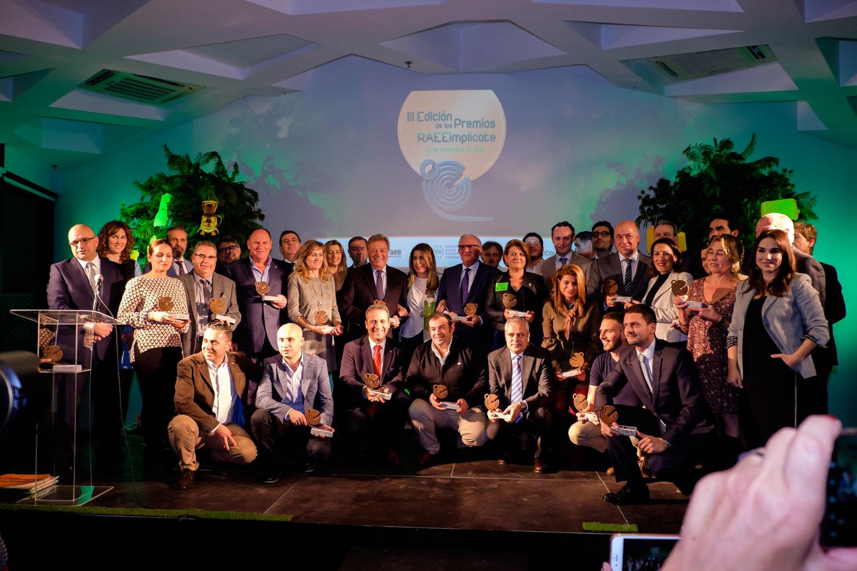 FAEL otorga 29 galardones en la III Edición de los Premios RAEEimplícate