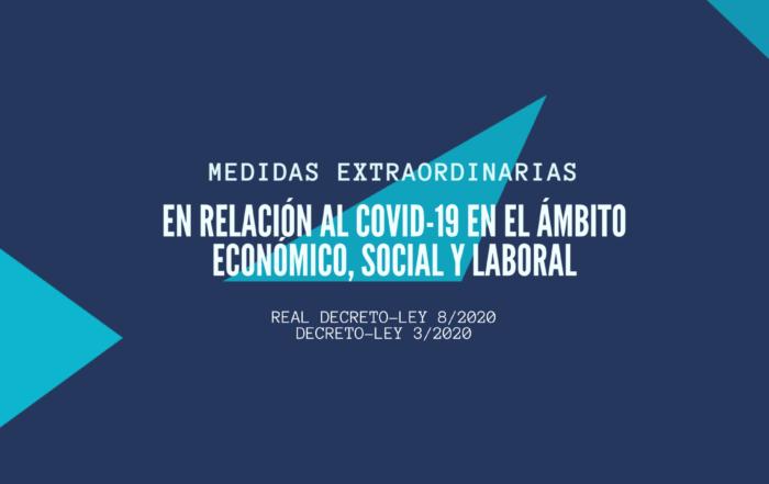 en relación al coviD-19 en el ámbito económico social y laboral