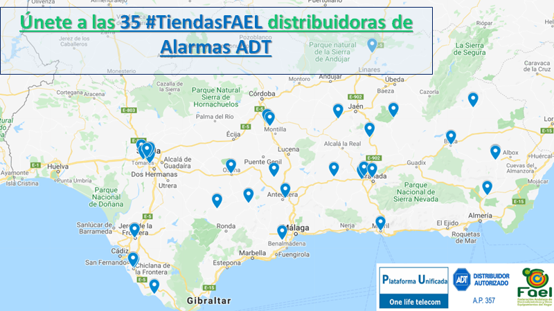 Red de #TiendasFAEL distribuidoras de alarmas ADT
