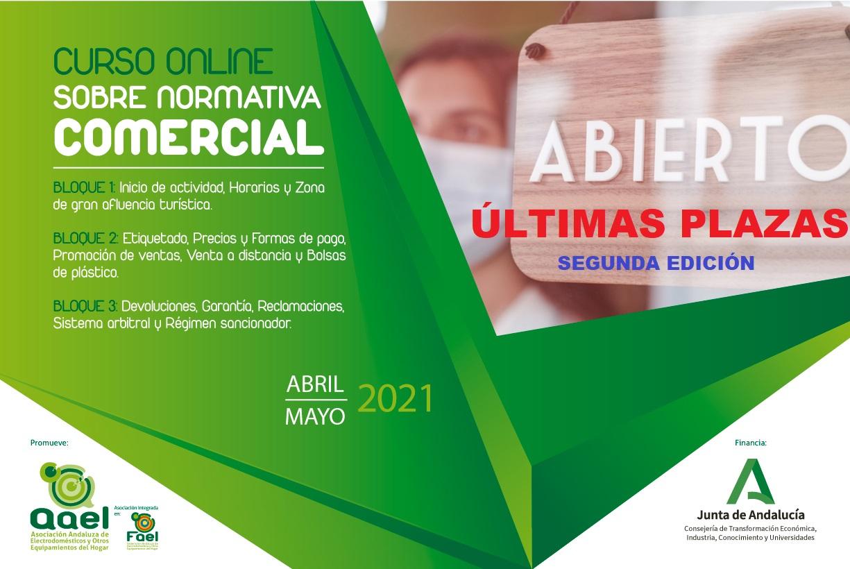 AAEL pone en marcha un Curso Online sobre Normativa Comercial aplicable en Andalucía